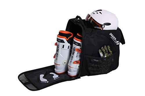 Driver13  Borsa per scarponi da sci borsa per scarponi da sci con scomparto per casco per softboots duri inliner e borsa per scarponi nero