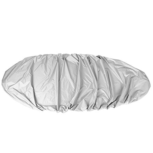 VGEBY1 Cubierta para Kayak para Barco, Protector de Cubierta Impermeable Resistente a los Rayos UV para Kayak de Canoa para Barco(3.5M-Gris)
