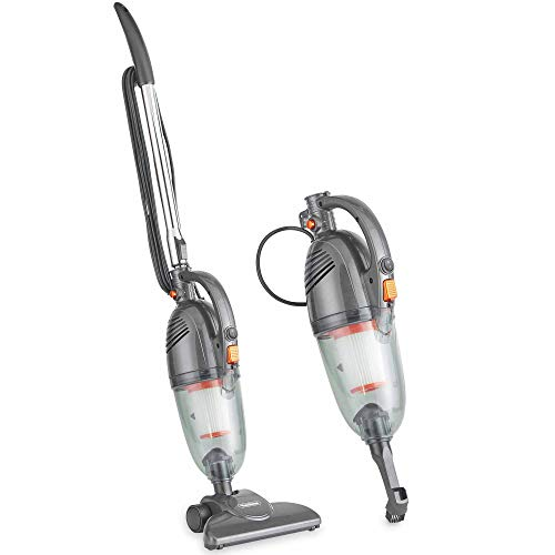 VonHaus Stick Vacuum Cleaner 800W Corded – 2 in 1 Upright & Handheld Vac with Lightweight Design, HEPA Filtration, Crevice Tool & Upholstery Brush - Grey