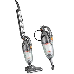 VonHaus Stick Vacuum Cleaner 800W Corded – Upright Vac with Lightweight Design, HEPA Filtration, Crevice Tool & Upholstery Brush – Grey'
