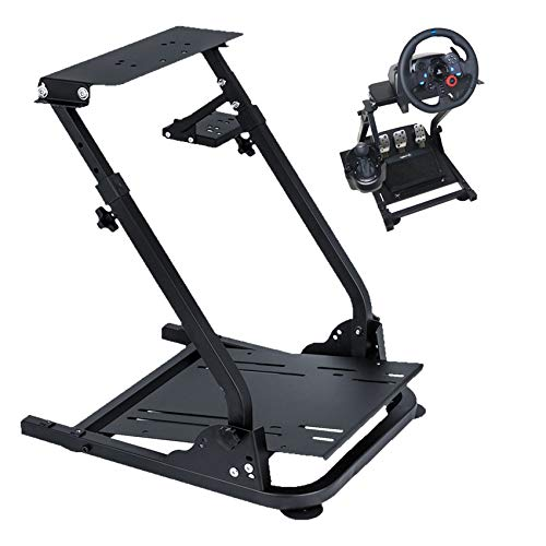 Racing Steering Wheel Stand for Logitech G920/G25/G27/G29 Wheel, Driving Gaming Simulator Racing Rig, Pedal & Shifters Not Included.