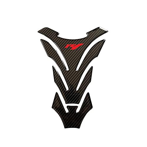 Protector DE Tanque Moto para Yam-AH-A YZF1000 YZFR1 YZF R1 2007 2008 Pegatina Aceite Gas Combustible Tanque Almohadilla Calcomanía Protector Motocicleta (Color : 1)