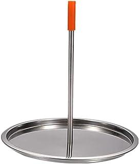 Bestonzon Vertical Skewer Stainless Steel Barbecue Chicken Rack Roast Chicken Plate Vertical Roaster Chicken Holder with D...