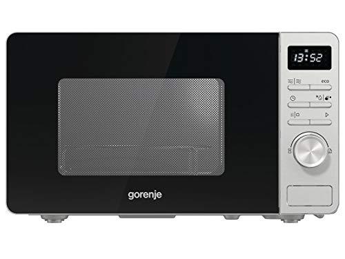 Gorenje MO 23 A4X - Microondas con función grill ChildLock AquaClean TouchControl SmartDisplay función de descongelación 11 programas automáticos 5 niveles de potencia 23L 1000W, acero inoxidable