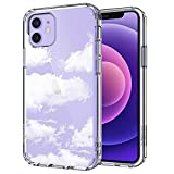 MOSNOVO Cloud Pattern Designed for iPhone 12 Case 6.1 Inch/Designed for iPhone 12 Pro Case 6.1 Inch,Clear Case with Design, TPU Bumper with Protective Hard Case Cover