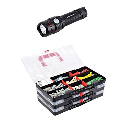 JACKSON PALMER 1,800 Piece Picture Hanging Kit + Tactical Flashlight Bundle