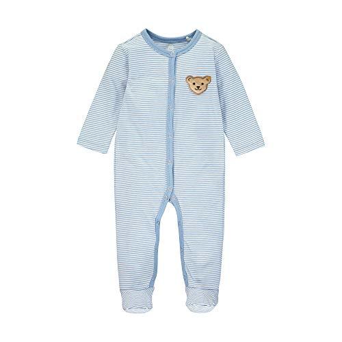 Steiff Baby-Jungen Strampler, Blau (Forever Blue 6027), 80 (Herstellergröße: 080)
