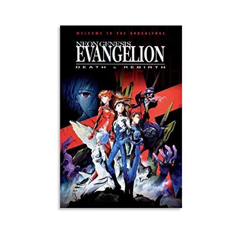 Empire - Poster su tela con anime giapponesi, motivo: Genesi neon Evangelion, morte e rinascita, 50 x 75 cm