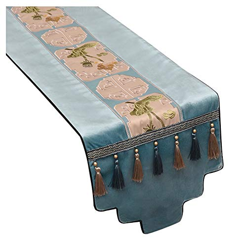 WXIAO duurzame tafel loper flanel elegante tafel Placemats geborduurd horeca evenement hittebestendige prachtige ambachtelijke dressoir cover loper