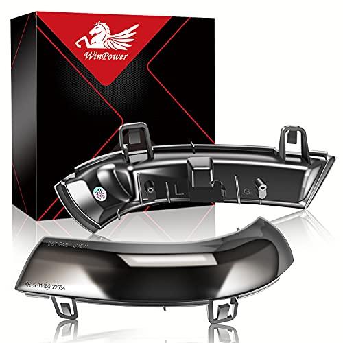 WinPower LED Dynamische Blinker Außenspiegelanzeige Seitenspiegelblinker Kompatibel mit Volkswagen Golf, Pa-ssat, EOS, Je-tta, Sha-ran, Sko-da, Se-at, etc., 2 Stück