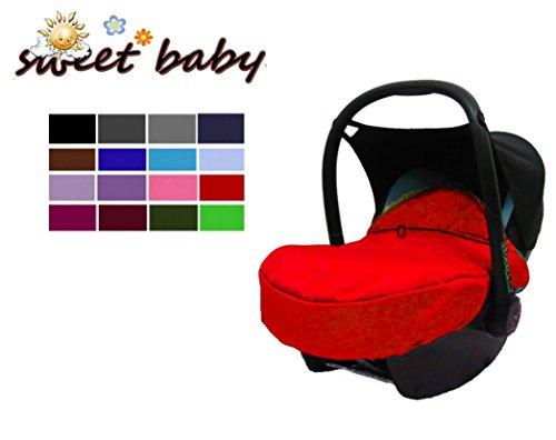 Sweet Baby ** ROT ** Gefütterte Fußdecke / Fußsack für Babyschale** wasserabweisend + winddicht -- Passend für Babyschale / Babysafe wie z.B. z.B. für Maxi Cosi / MaxiCosi Pebble + Citi + CabrioFix / Römer SHR (II) / Cybex Aton (II) etc.