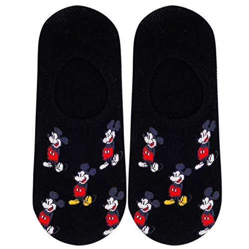 10 Pares Men's Boat Socks Fashion Cartoon Mickey Simple Shallow Mouth Socks Wild Invisible Socks