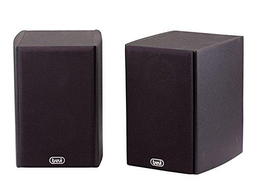 Trevi AV 540 Altoparlanti Speaker Amplificati con Mobile in Legno, Ingresso Aux-In, Color Legno