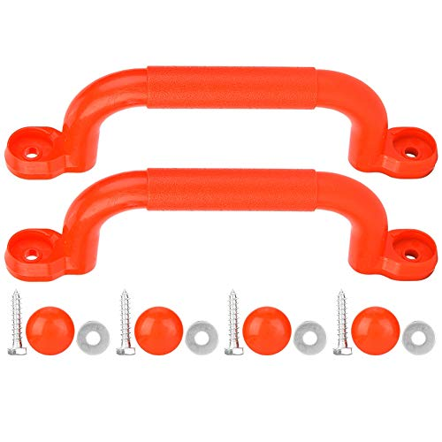 With Finger Grips Non-Slip Solid Playground Safety Handle, Plastic Safe Kids Playground Handle, Secure Grip For Climbing Frame & Play House(red)