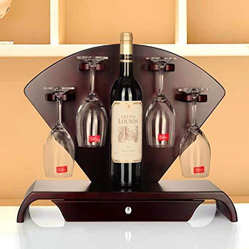 AYHa Holz Weinglas Rack, europäische freistehende Tischplatte mit Schubladen Weinhalter für Bar Weinkeller Keller Schrank Speisekammer Küche Dekoration