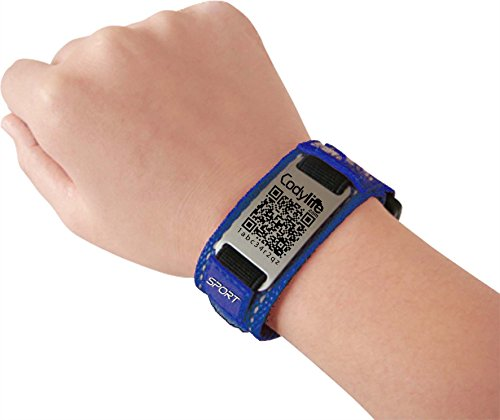 Codylife Sport - Pulsera código QR color Azul Tamaño S (