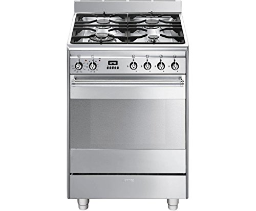 Smeg SUK61PX8 Concert Stainless Steel Pyrolytic 60cm Dual Fuel Cooker