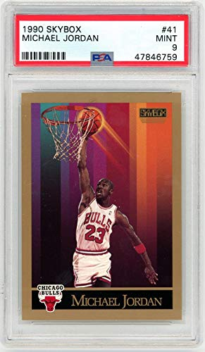 Michael Jordan 1990-91 Skybox Basketball Card #41 Graded PSA 9 MINT - Unsigned Basketball Cards