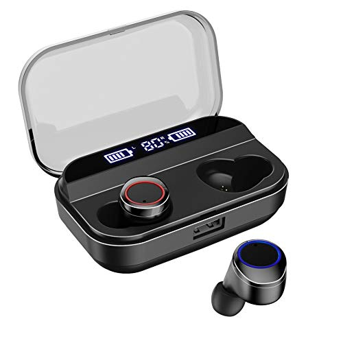 IUCAR X11 TWS Auricular Pantalla Digital Touch 3000Mah Compartimento de batería Grande (Negro)