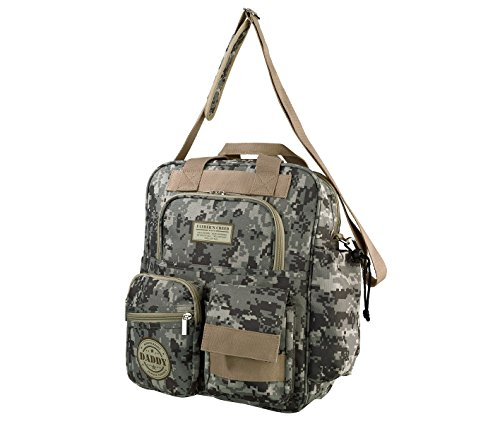 "Lillian Rose Diaper Bag, Daddy Military, 12.5"" x 16"