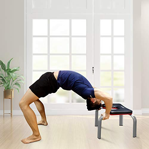 HARISON Yoga Inversion Headstand Bench Stand- Fitness Inversion Chair for Home Gym Workout Balance Strength Training