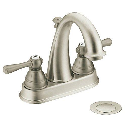 Moen 6121BN Kingsley Two-Handle High Arc Bathroom Faucet, Brushed Nickel