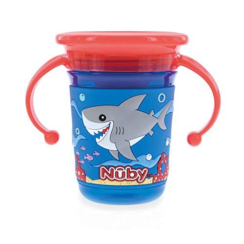 Nûby - 360° Wonder Cup met 3D-bedrukking - 240ml - 6m+- blauw