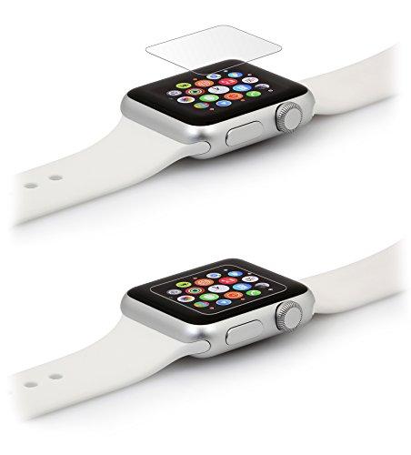 StilGut Displayschutzfolie aus Sicherheitsglas für Apple Watch 38mm (2er-Pack)