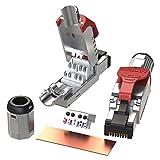 [LINKUP] 6 個入り - Cat6A RJ45 10G シールド ダイカスト メタルフィールド ターミネーション プラグ | HDBaseT Easy ジャック | イーサネット コネクタ | インターネット アダプター [レッド]