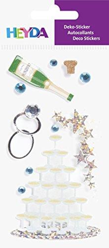 Baier & Schneider Sticker-etiketten Sticker-Mix, Champagne Party, 6 stuks, 4-kleurig, 1 stuk