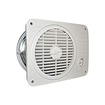Suncourt TW208P ThruWall Hard Wired Variable Speed Room to Room Wall Mounted Air Flow Transfer Fan with Rotating Grille and Quiet Operation White