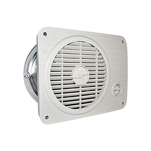 Suncourt TW208P ThruWall Hardwired Room to Room Transfer Fan, Variable Speed Wall Mounted Fan with Rotating Grille and Quiet Operation