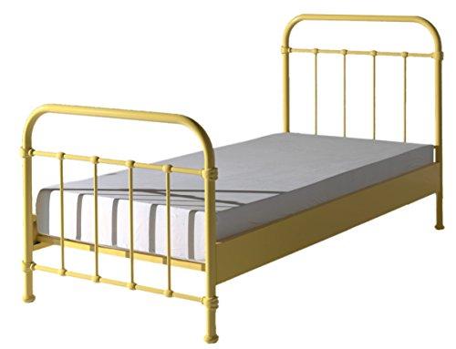 Metallbett Louis 120*200 cm gelb inkl Lattenrost Jugendzimmer KinderzimmerKinderbett Jugendliege Bettliege Einzelbett Jugendbett