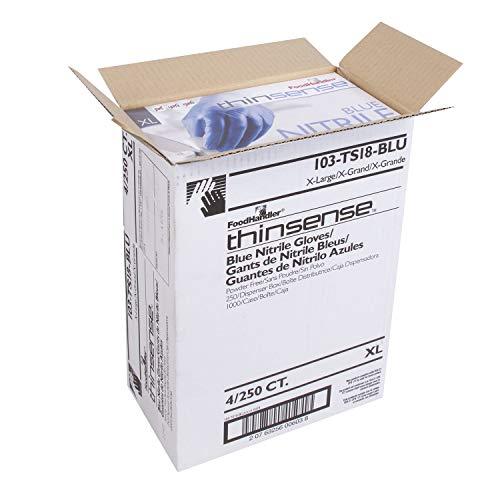 FoodHandler 103-TS16-BLU FoodHandler Blue thinsense Nitrile LG Electric Blue (Pack of 1000)