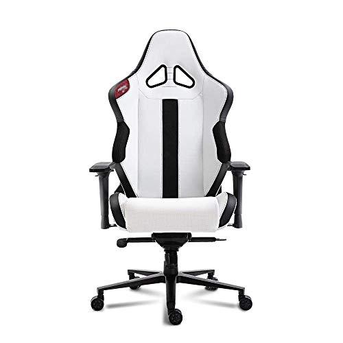 N/Z Tägliche Ausrüstung Professioneller Gaming-Stuhl Bürostuhl Multifunktionaler Rennstuhl Video-Gaming-Stuhl Verstellbarer Schreibtischstuhl mit 4D-Armlehnen in Schwarzweiß