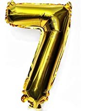 16 Inch(40cm) Gold Digit Helium Foil Birthday Party Balloons Number 7