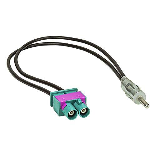 tomzz Audio 1503-015 Doppel Fakra (M) Antennenadapter Stecker auf DIN (M) Stecker 150 Ohm Kompatibel mit VW Seat Skoda Volvo FIAT Mercedes Peugeot