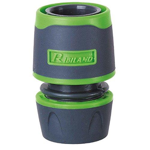 Ribiland 01157 - Raccord Automatique Plastique - pour Tuyau Diamètre 12 à 15 mm - Vert