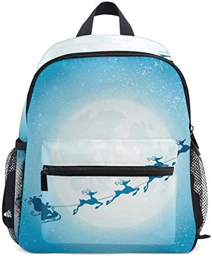 3D school bag Children's backpack with reindeer moon motif, perfect for school or travel