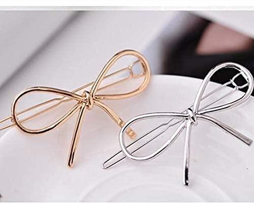 Sgxiyue Fashion Ladies Play Clips Forma Infinita Clips de Cabello Diadema Accesorios de Estilo Silver Gold DIY Cuidado del Cabello Herramientas de Estilo (Color : Silver)