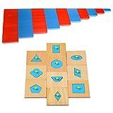 LOVIVER 10pcs Montessori Shapes Puzzles Y Números Varillas Varillas, Juguete Educativo para Niños, Rompecabezas Geométrico De Madera para El Entrenamiento del