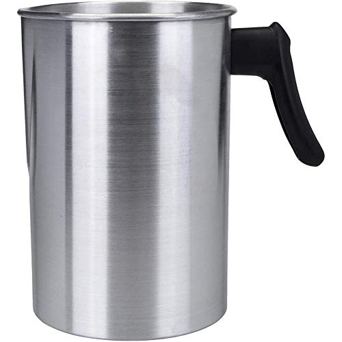 OVBBESS Vela de 4 libras que hace el pote, vela de la construcción de aluminio que hace la jarra que vierte el pote derretido de la cera del canalón
