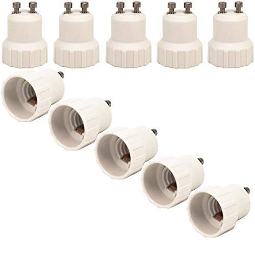 ZDCDJ 10 adaptadores GU10 a E14 para casquillo de lámpara, convertidores, GU10...