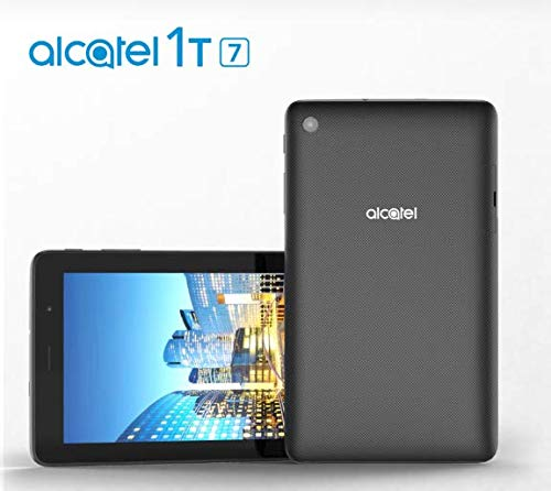 Alcatel 1T 7'' WiFi Tablet (8067) Bluetooth 8GB ROM + 1 GB RAM 5MP Camera Android Oreo (Go Edition) Black