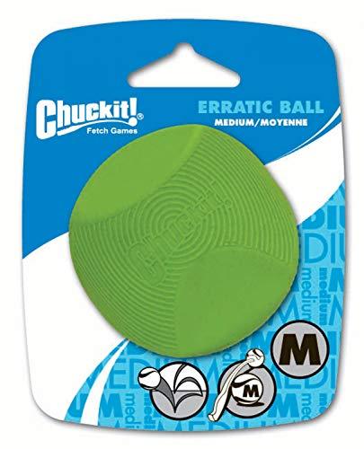 Chuckit! Erratic Ball, Medium, 2-1/2-Inch, by Canine Hardware