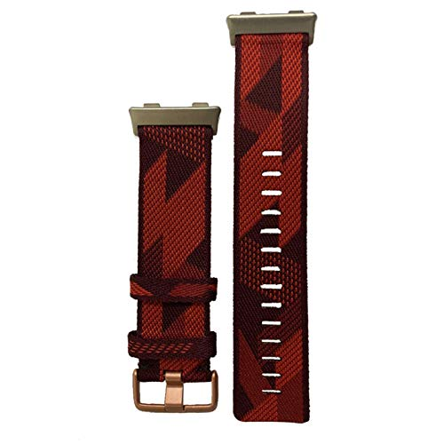 KADIWOAD Pulsera de la Correa de la muñeca de 2020 Nylon para el Reloj OPPO 46mm Banda DE Reloj Suave CURANTE TRILLAS DE CULTIVAS TRANSPURTADAS para OPPO (Color : Red)