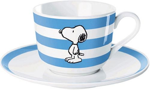 United Labels 0105761 - Best of Snoopy-Classic Tasse mit Untertasse Porzellan in prämierter Geschenkverpackung 200 ml