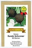 Rettich - Runder Schwarzer (50 Samen)