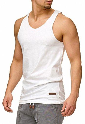 Indicode Herren Kalmar Tank-Top aus 100{b66ba65ee13f76d784334352bdcdbd9aff6057ca1a916785eeb005c99a5cfd33} Baumwolle | Regular Fit Herren-Shirt Rundhals Sport Muskelshirt Training Achselshirt ärmellos Freizeit Shirt Unterhemd für Männer Optical White XXL