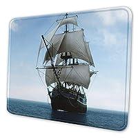 帆船 マウスパッド 18 X 22cm 滑り止め 防水 おしゃれ 洗える ビジネス用 家庭用 ゲーム用